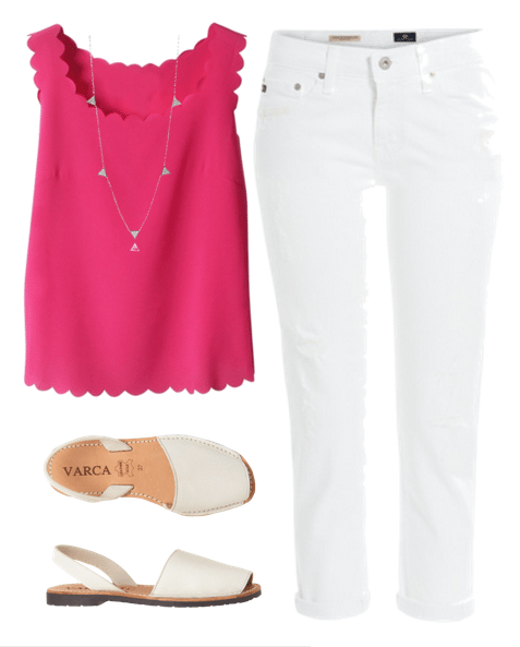 white jeans outfits