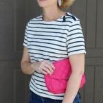 Stripes + A Pop of Pink