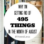 It's August and #INeedLess – Playing The Minimalism Game