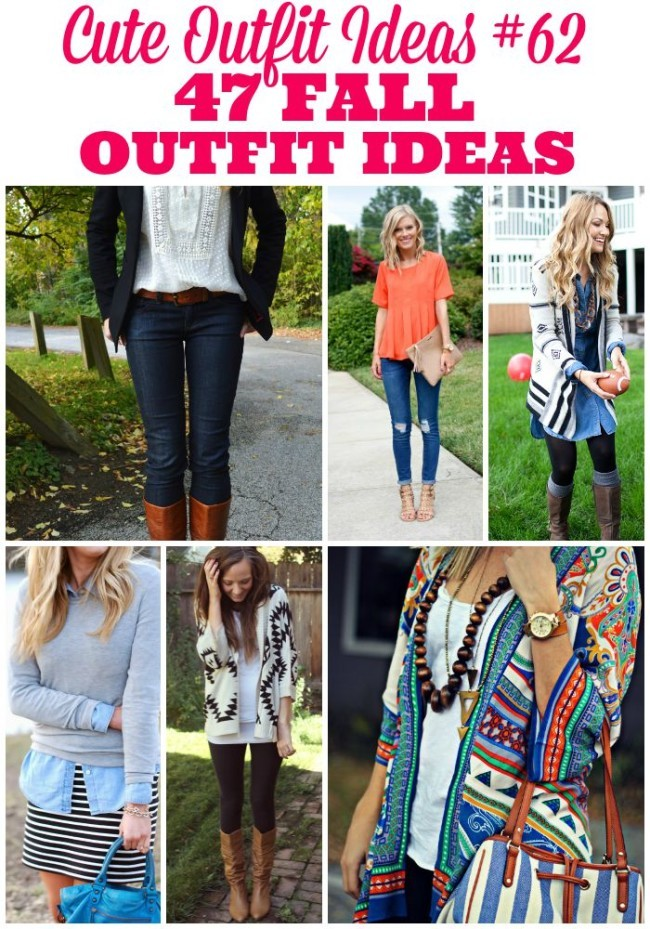 Do you have fall fashion on the brain like I do? I'm pretty sure it's my all-time favorite season to dress for. Actually, it's just my favorite season for everything! If you're looking for some inspiration when it comes to putting together your fall wardrobe, these 47 fall outfit ideas are just what you need. Have fun! Get creative!