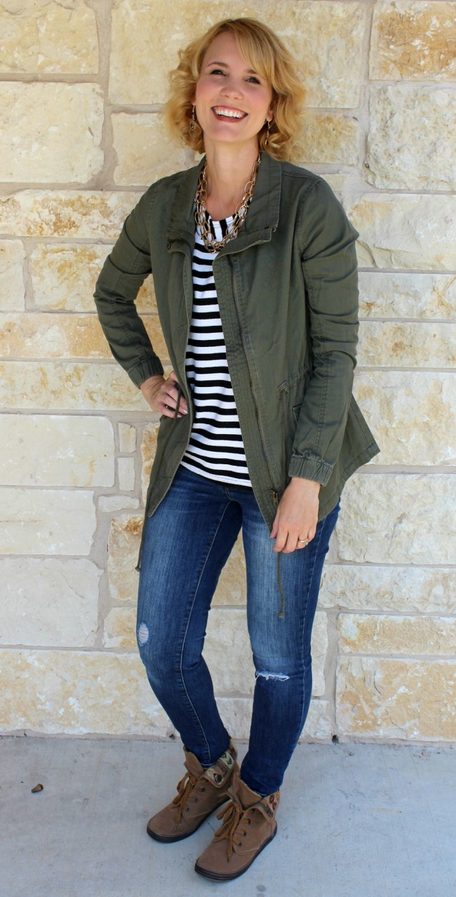 olive jacket outfit-