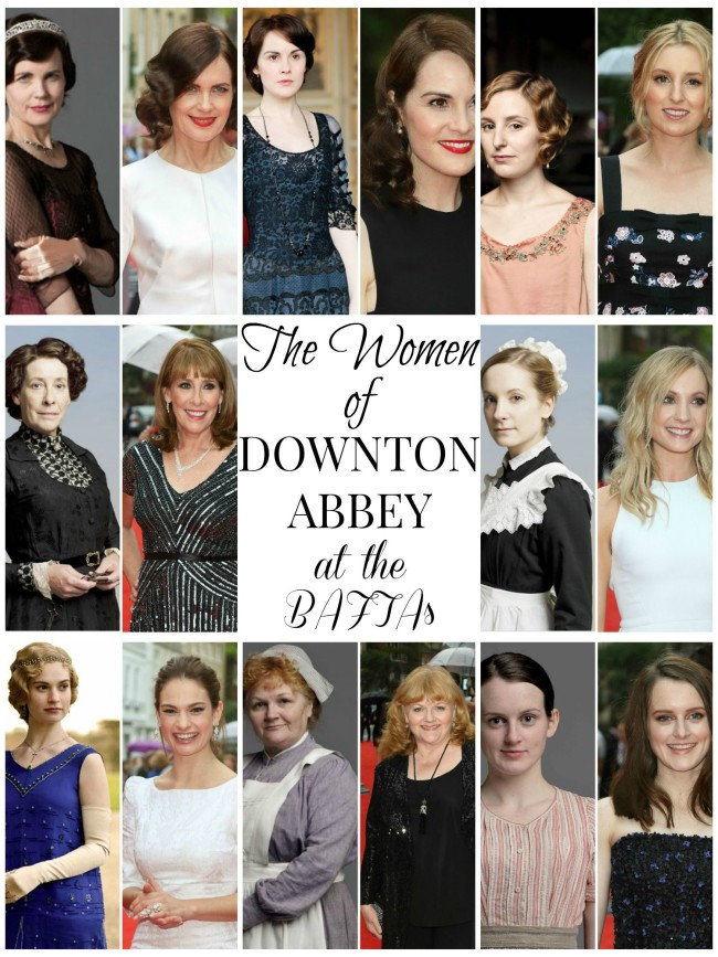 the women of downton abbey baftas