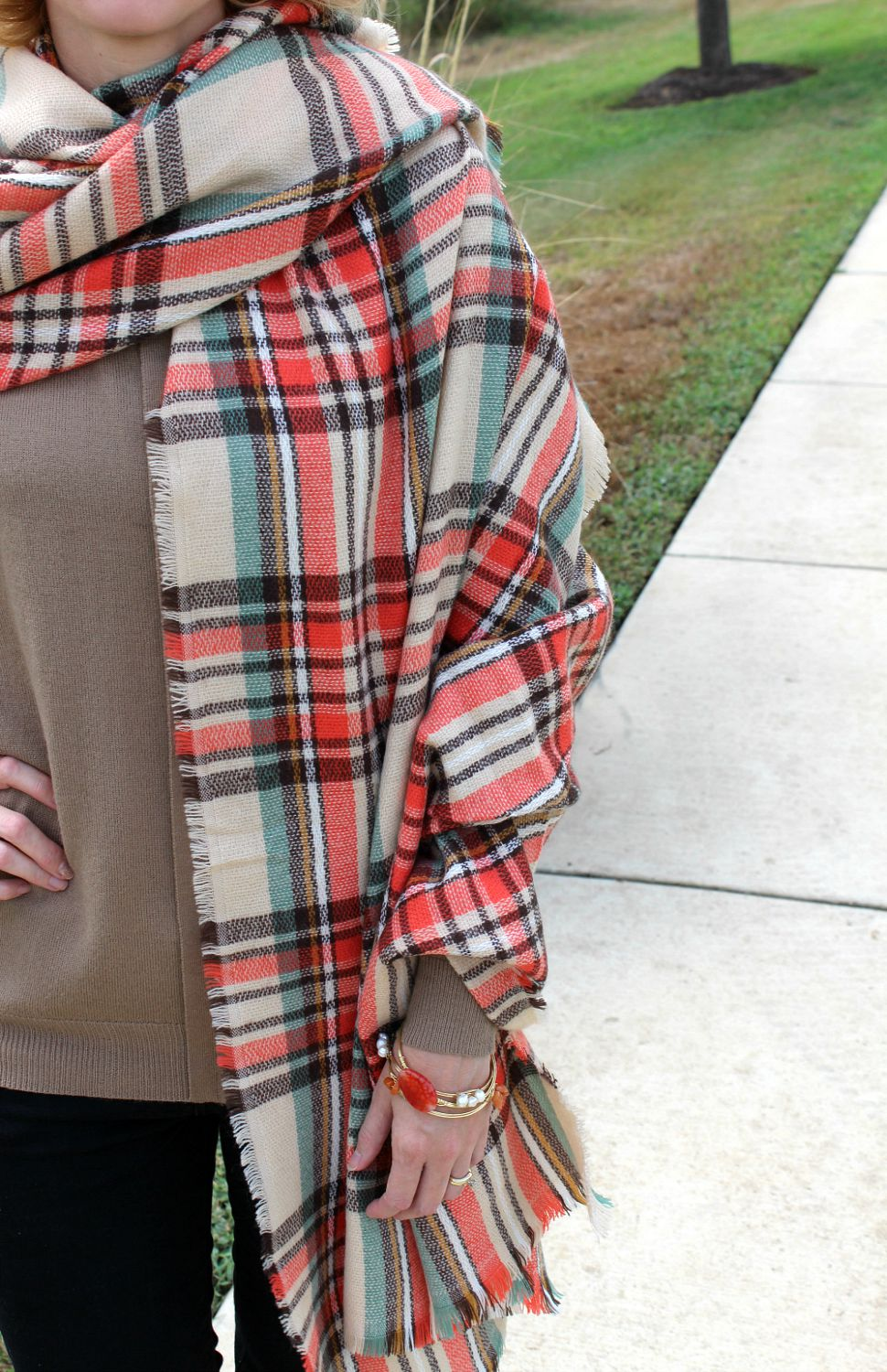 3 Blanket Scarf Outfit Ideas Plus How To Tie One