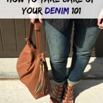 Day 1: How to Take Care of Your Denim 101