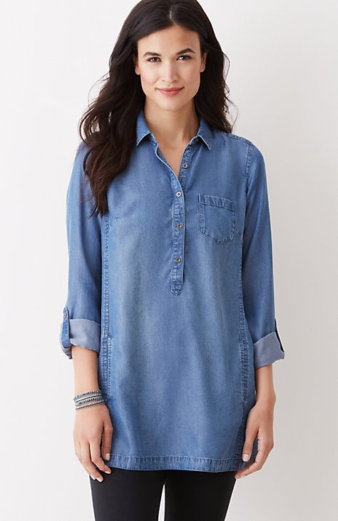 soft indigo tunic from J Jilll