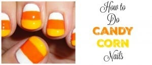 How to Do Candy Corn Nails
