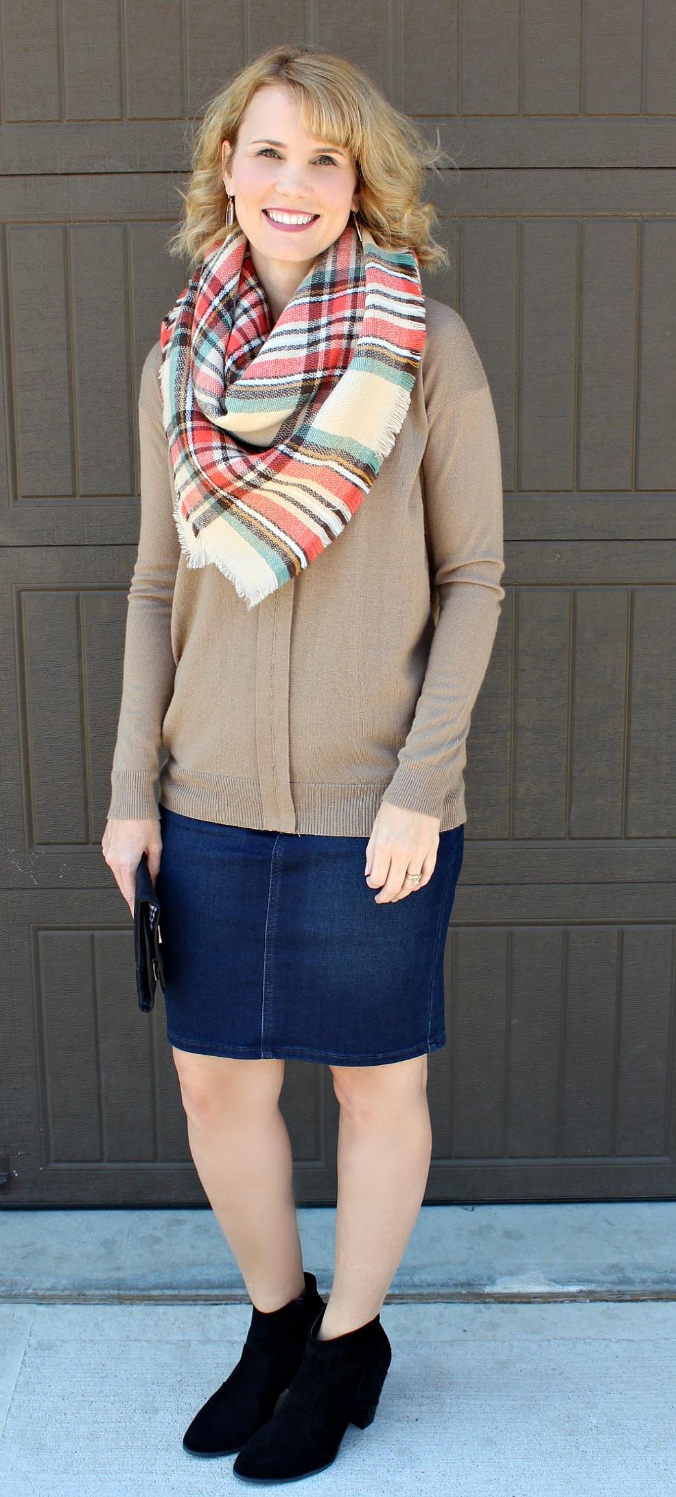 Day 2 Denim Skirt Outfits   Mom Fabulous
