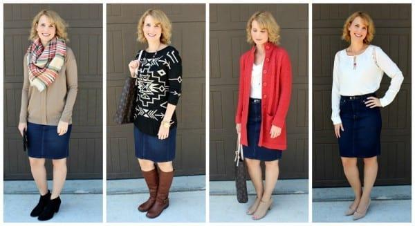 Denim Skirt Outfits-15