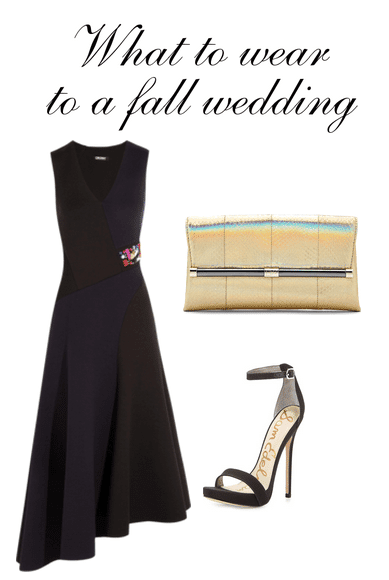 Are you looking for ideas for what to wear to a fall wedding? With a few basic pieces ready to go in your closet, you can get dressed head to toe for a last minute wedding, a party or a dressy outing with friends.