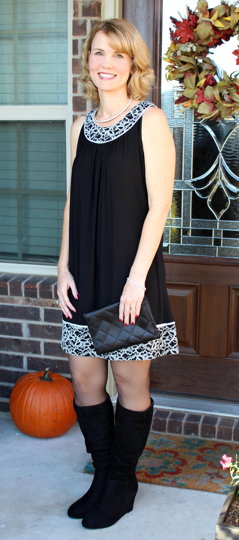 dressy dress with boots