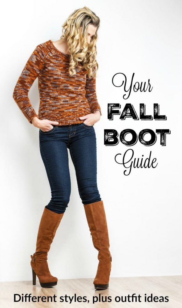 Your fall boot guide - what are the different styles of boots and what to wear them with. Great fall outfit ideas too!