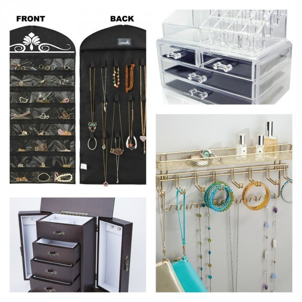 Are you tired of your jewelry and accessories being a constant mess? These 7 jewelry storage ideas will give you some inspiration to get it organized, so you can add those final touches to your outfit in a jiffy!
