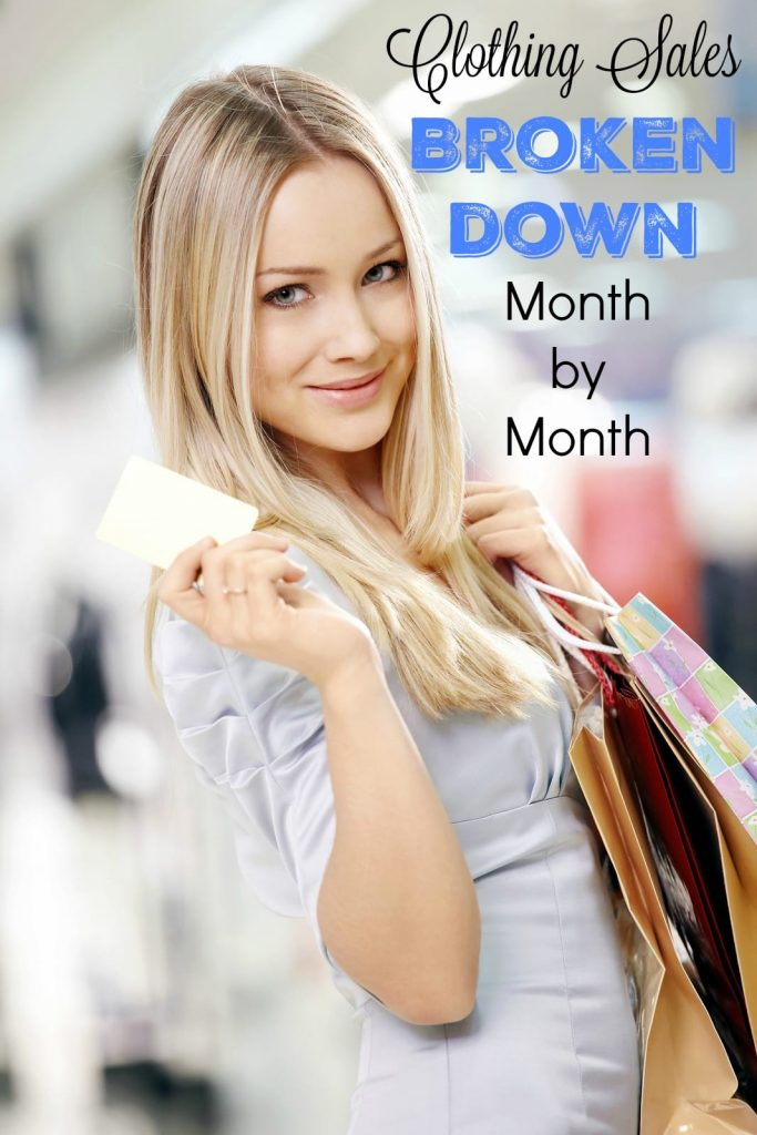 Knowing when certain apparel and accessory items go on sale can help save you a ton of money when shopping for your wardrobe. When should you purchase a winter coat or a swimsuit? I've broken it down month by month.