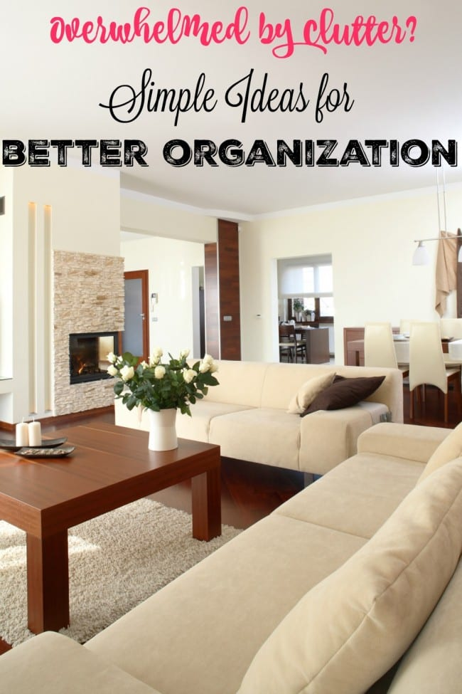 Are you overwhelmed by clutter? Start small by implementing a few ideas at a time. The first tip if one of my favorite ways to decorate and keep our family organized.