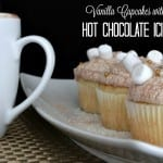 Vanilla Cupcakes with Hot Chocolate Icing