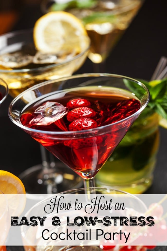 How to Host an Easy and Low-Stress Cocktail Party