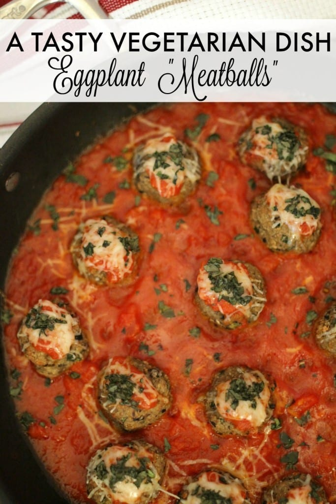 Eggplant meatballs recipe - If you're looking for a delicious main dish for vegetarians, these eggplant meatballs are perfect for everyone. (Even meat eaters!)