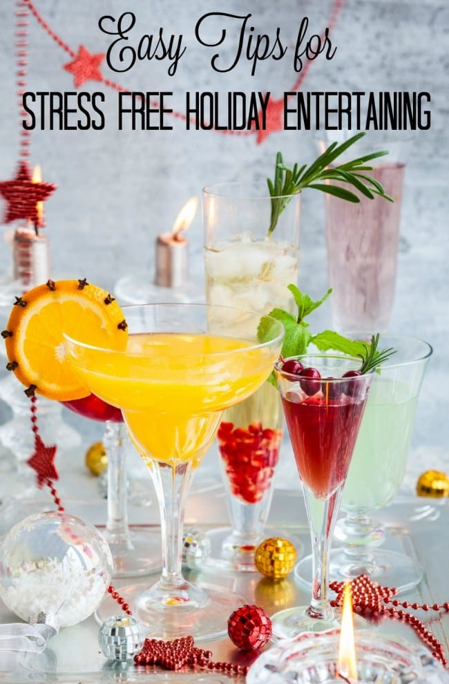 Do the words Holiday Entertaining make you cringe a little (or a lot)? We're all busy moms, so the idea of hosting a party in our homes can at times feel intimidating and overwhelming. Here are a few easy tips, plus 15 Holiday Drink Concoctions to help get your party started.
