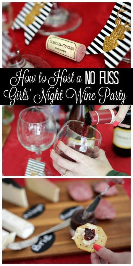 Wine Party Ideas for a no-fuss girls' night.