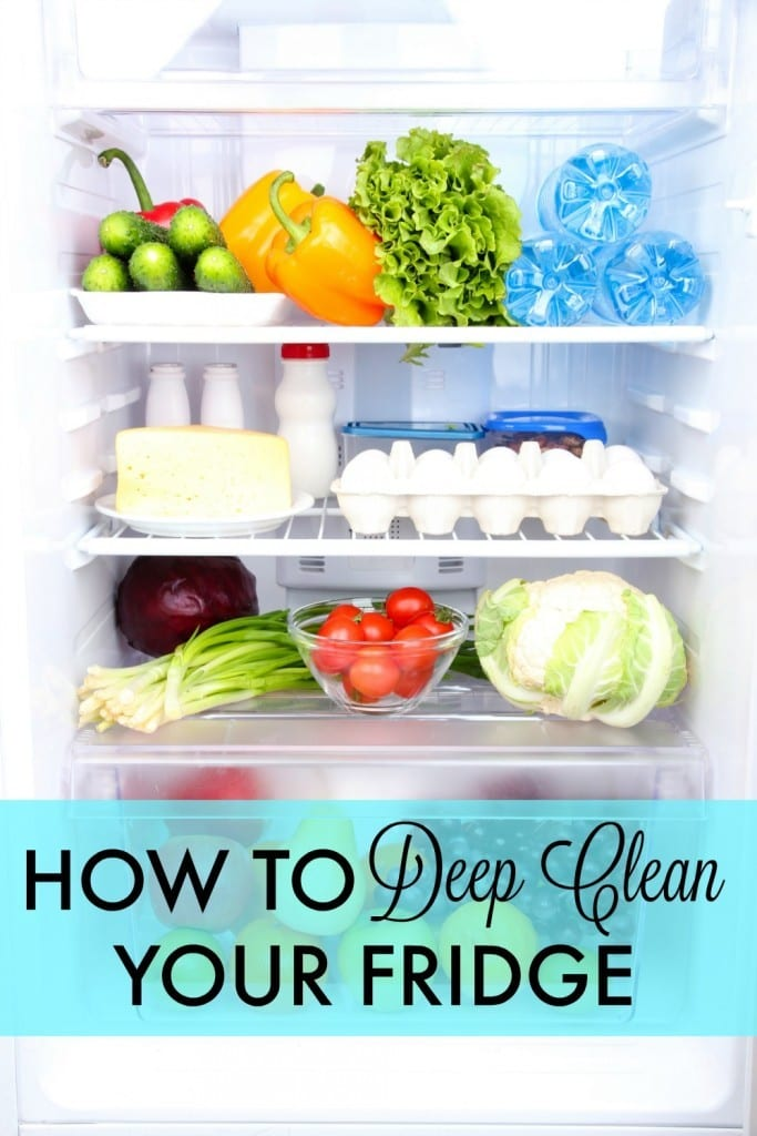 How to deep clean your fridge - Could your fridge use a little TLC? A clean fridge saves you money and time in the end. Here's an easy to follow, step by step guide. I also share how I organize my fridge and freezer for ease in finding things.