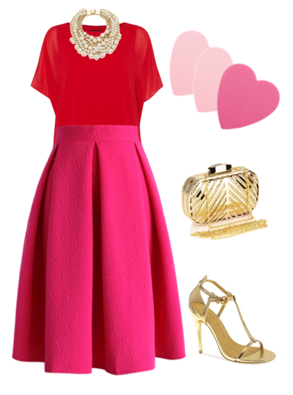 Valentines Outfit Ideas - From soft pink tulle skirts and black heels, to statement necklaces and mixing of colors - this is a holiday where you can go all out. Here are four ideas for this special holiday.