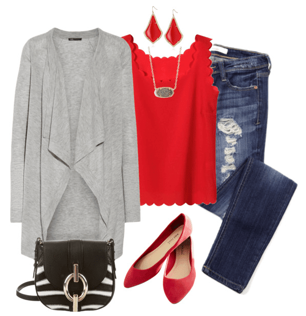 These casual Valentine's Day outfit ideas are cute, comfy and a fun way to celebrate the holiday.
