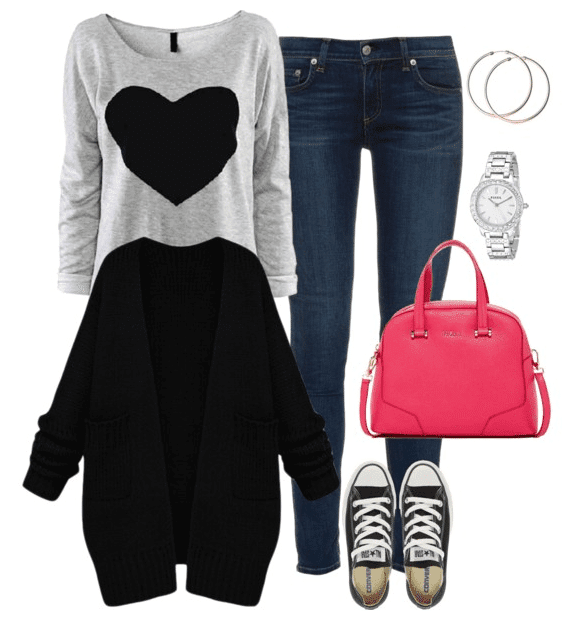 Cute Outfit Ideas of the Week #65 - Casual Valentineu0026#39;s Day Outfits | Mom Fabulous