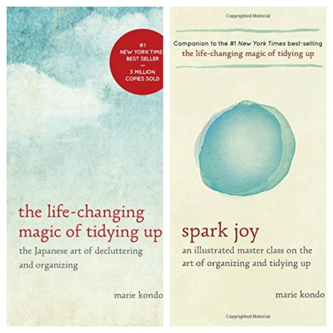 Marie kondo books - The Life Changing Magic of Tidying Up and Spark Joy are this organizing, minimalist gurus's two books.