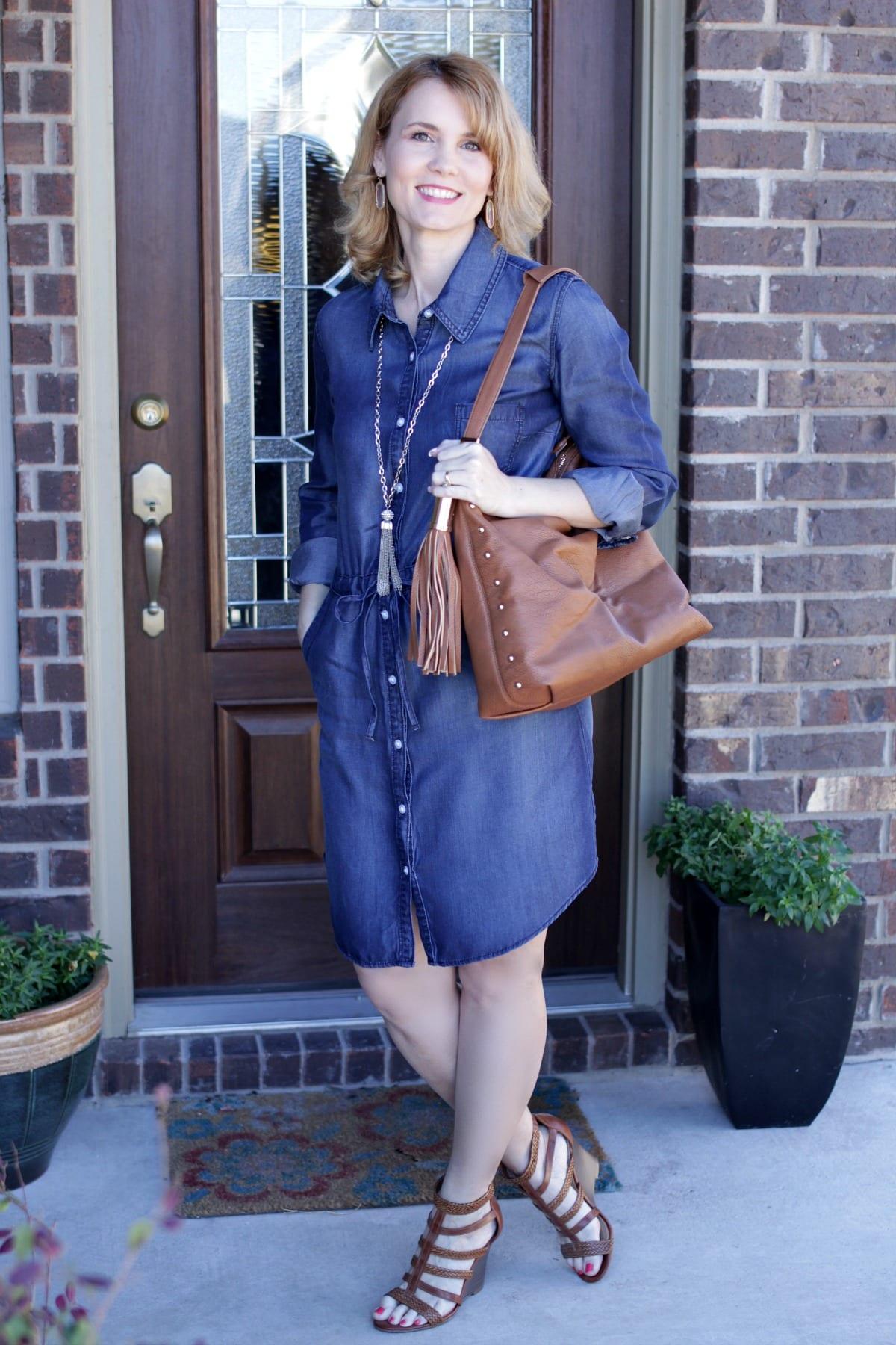 one denim dress three ways to wear it fabulous