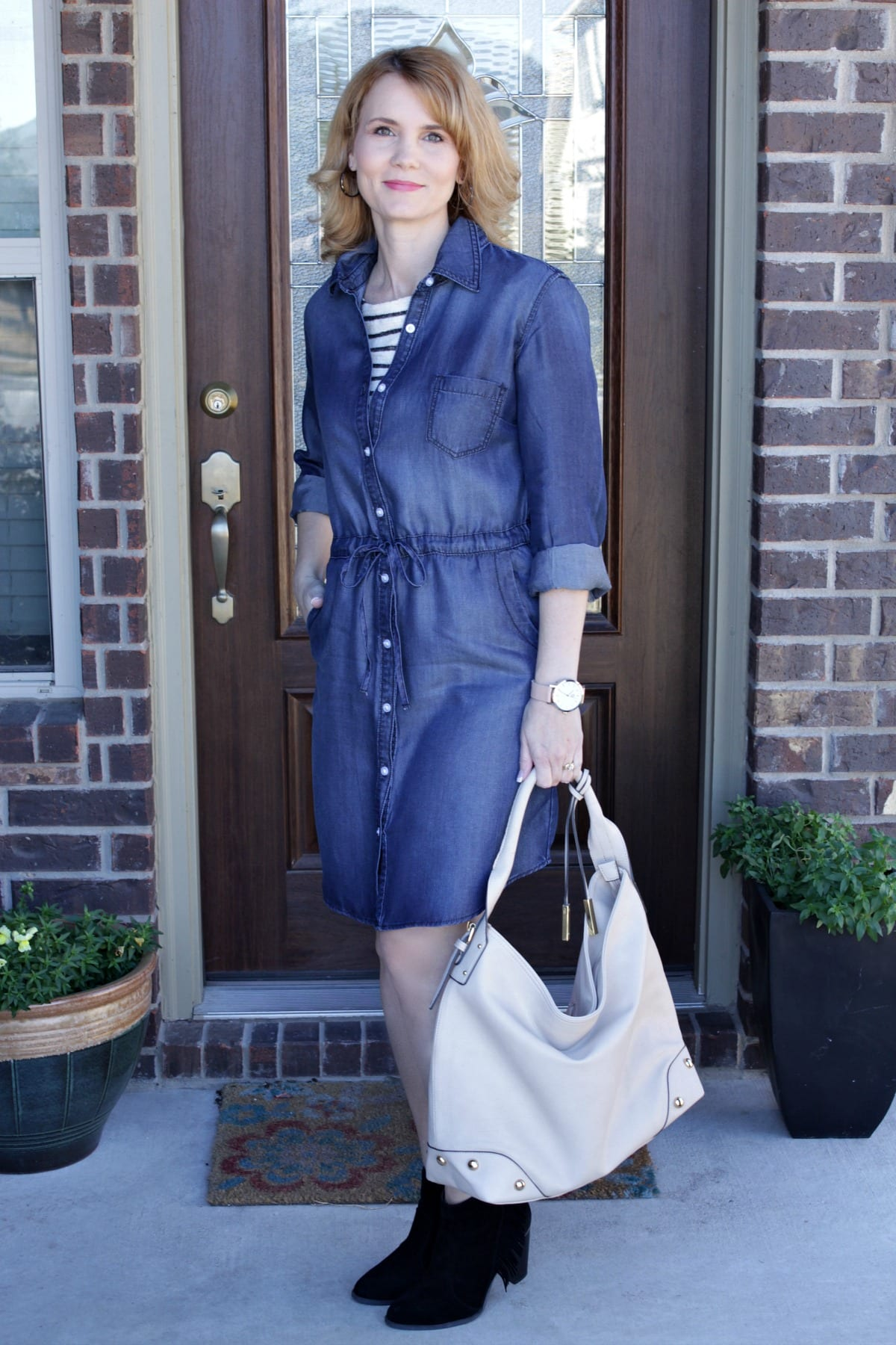 One Denim Dress: Three Ways To Wear It
