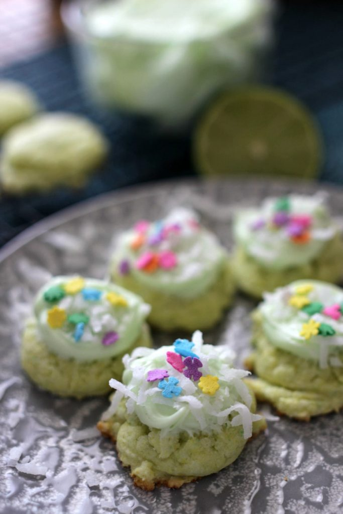 Key Lime Coconut Cake Mix Cookies | Mom Fabulous