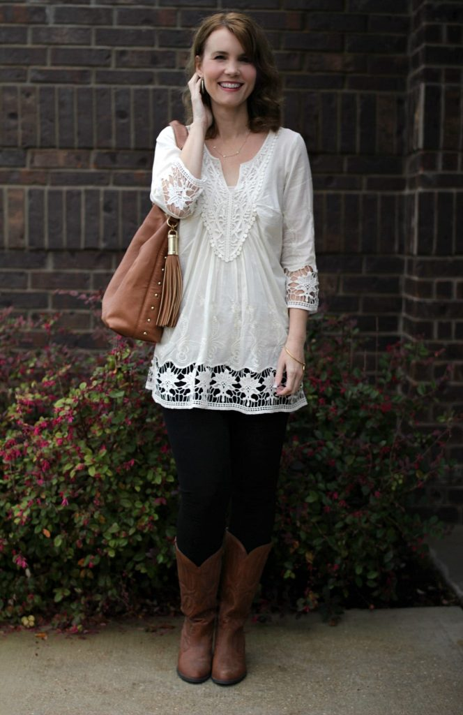 This white tunic shirt is so gorgeous and versatile. See how I styled it three different ways to create three different outfits.