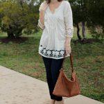 Three Ways to Wear a White Tunic Shirt