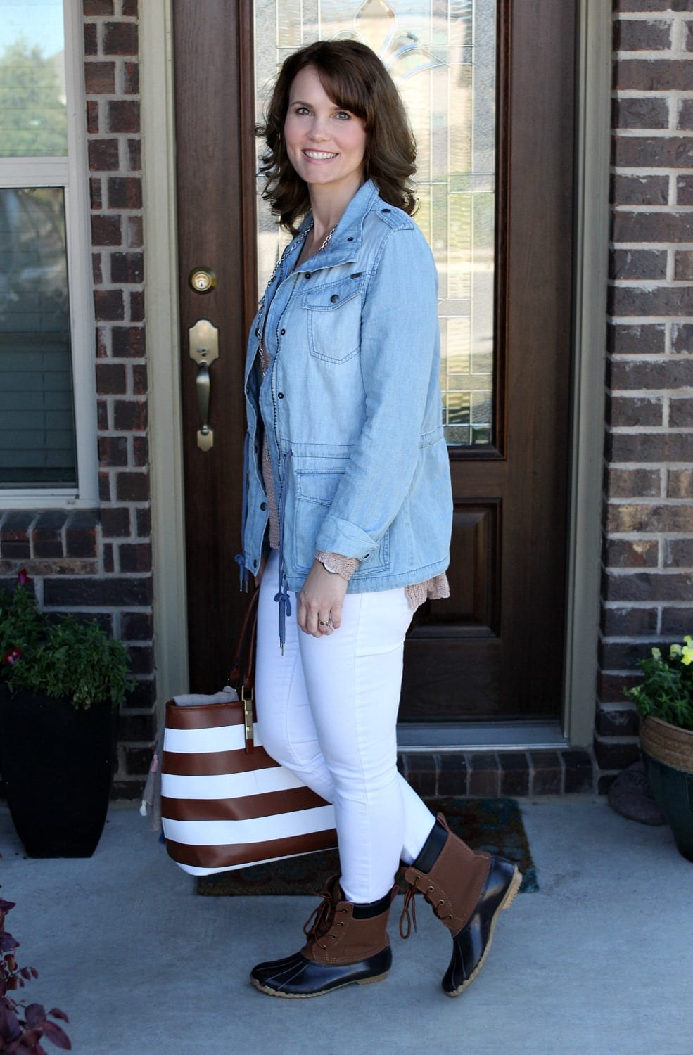 Duck Boots Outfit for Spring