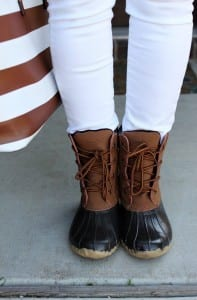 A Duck Boots Outfit for Spring + My Favorite Color Combo for the Season