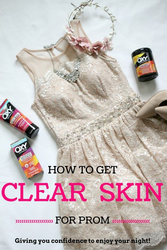 How to get clear skin for prom -- You're searching for the perfect dress or tux, thinking of creative ways to ask your date or planning a fun night with just the girls. Part of that prep includes making sure your skin is looking its best and I have just the product for you! How does 28 days to clearer skin sound? Perfect. Let's get started.