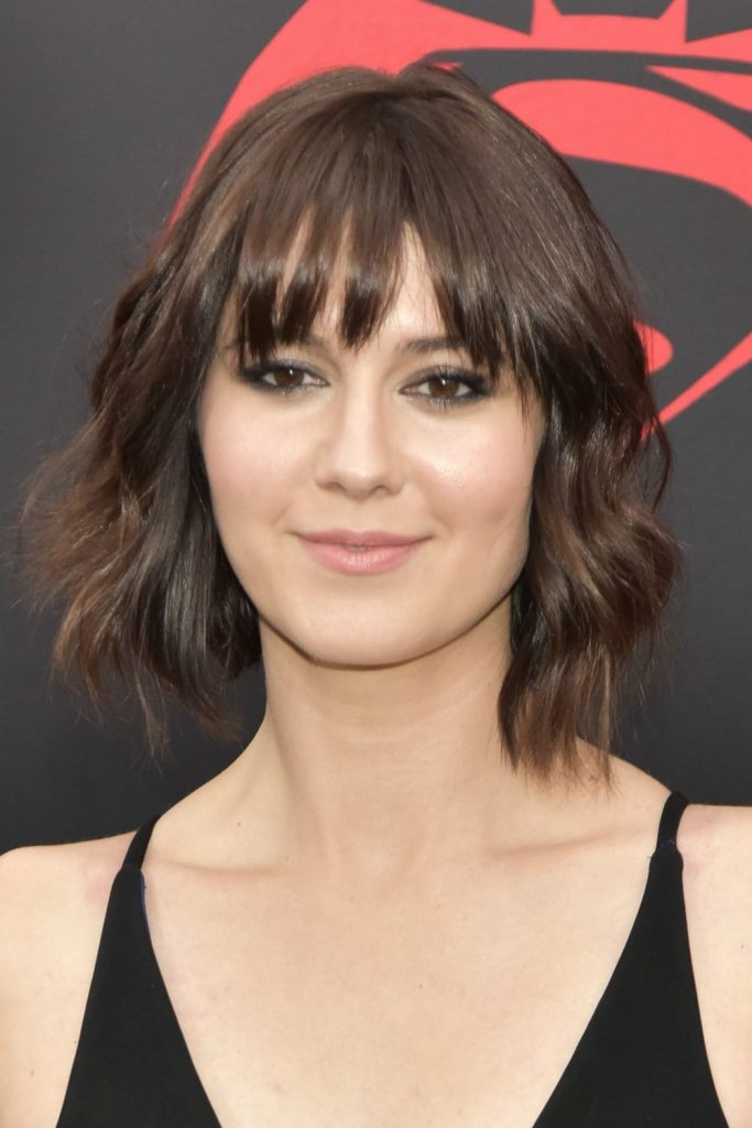 Best hair styles of the week - Mary Elizabeth Winstead wears her hair in a short bob with bangs.