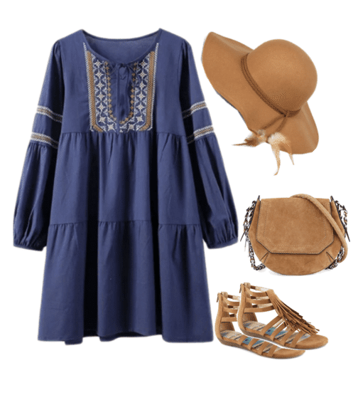 Boho fashion is all about fringe, raw edges, woven fabrics and gladiator sandals. It's a trend that I love and can fully embrace. It's also a trend that transcends all seasons and ages.