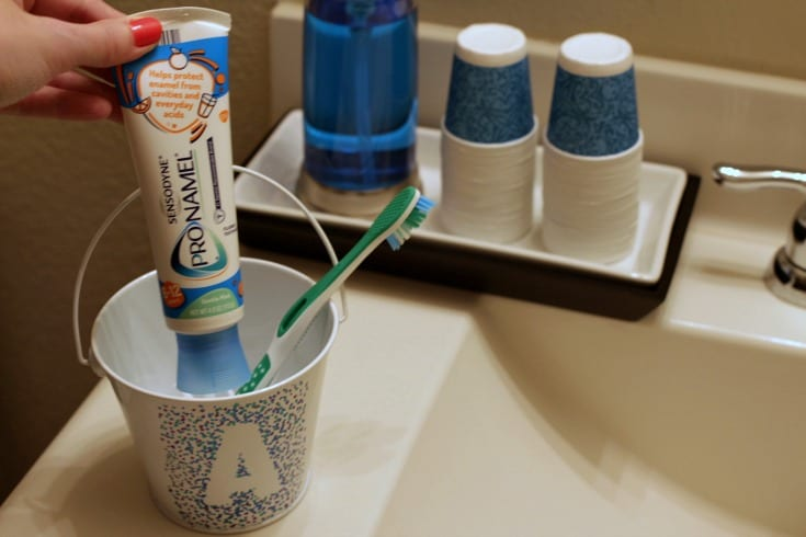Make your kids love brushing their teeth with this DIY oral healthcare station