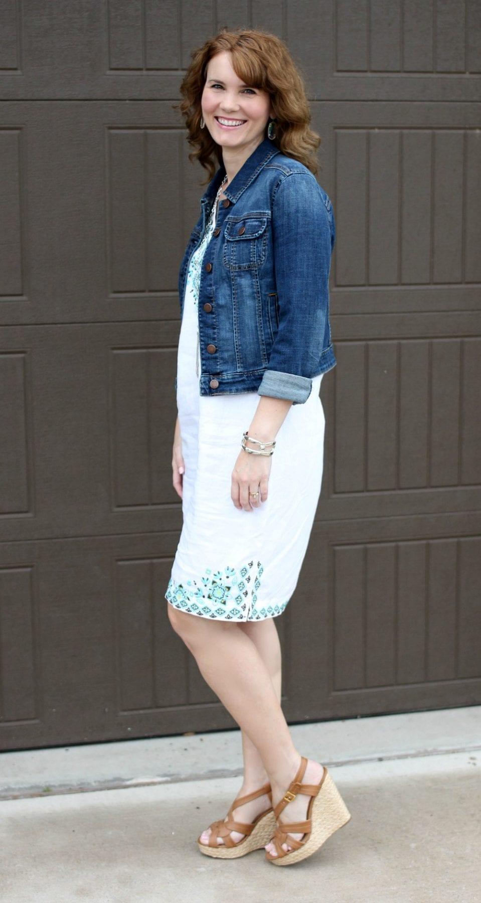 J Jill Linen Summer Dress - Wear it with a denim jacket and wedges.