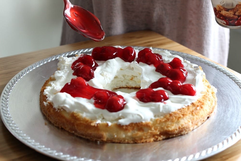 Angel Food Cake With Cherry Pie Filling Recipe