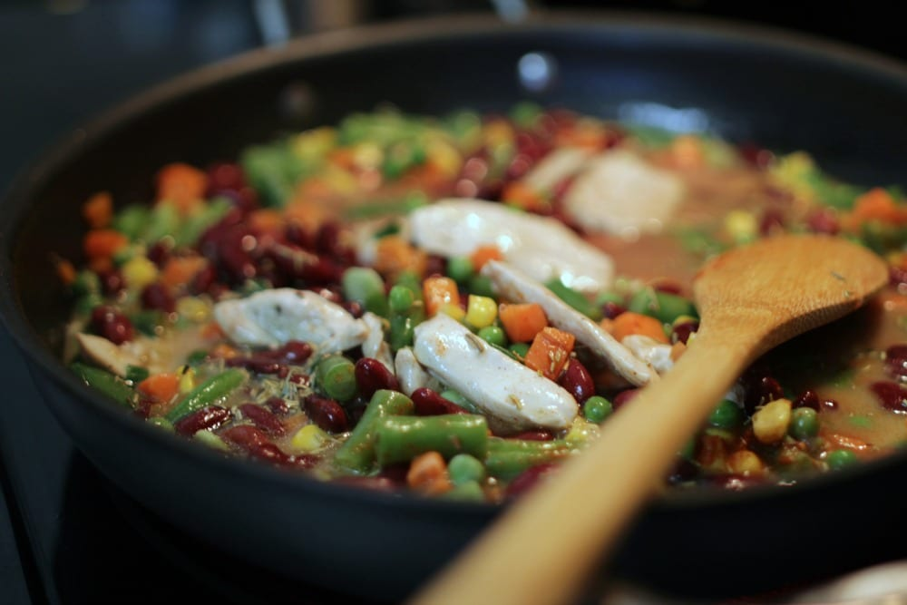 Chicken and bean skillet recipe