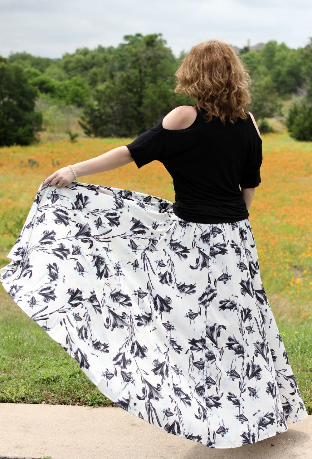 A Dressed Up Maxi Skirt Outfit