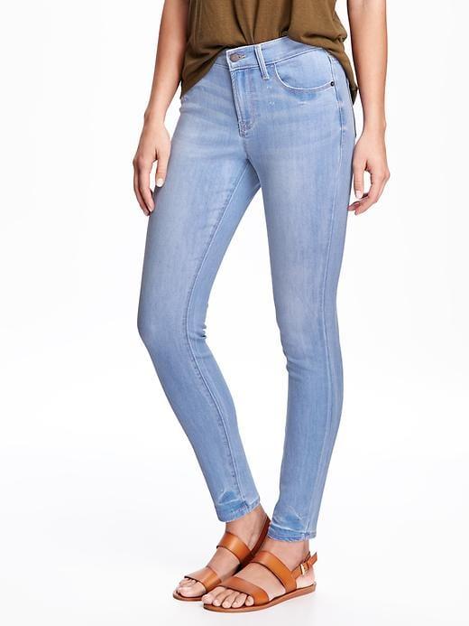 old navy mid rise jeans light denim