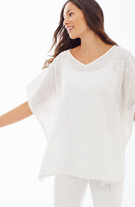 white sands embroidered poncho
