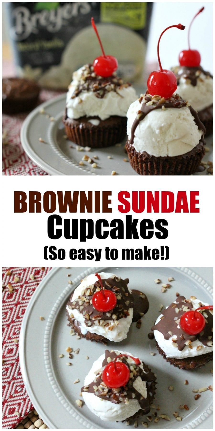 From Birthday parties and get-togethers with friends, to just because moments, these Brownie Sundae Cupcakes are sure to be a big hit. Plus, they are super easy to make!