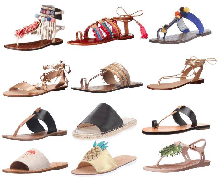 This Season's Statement-Making Flat Sandals