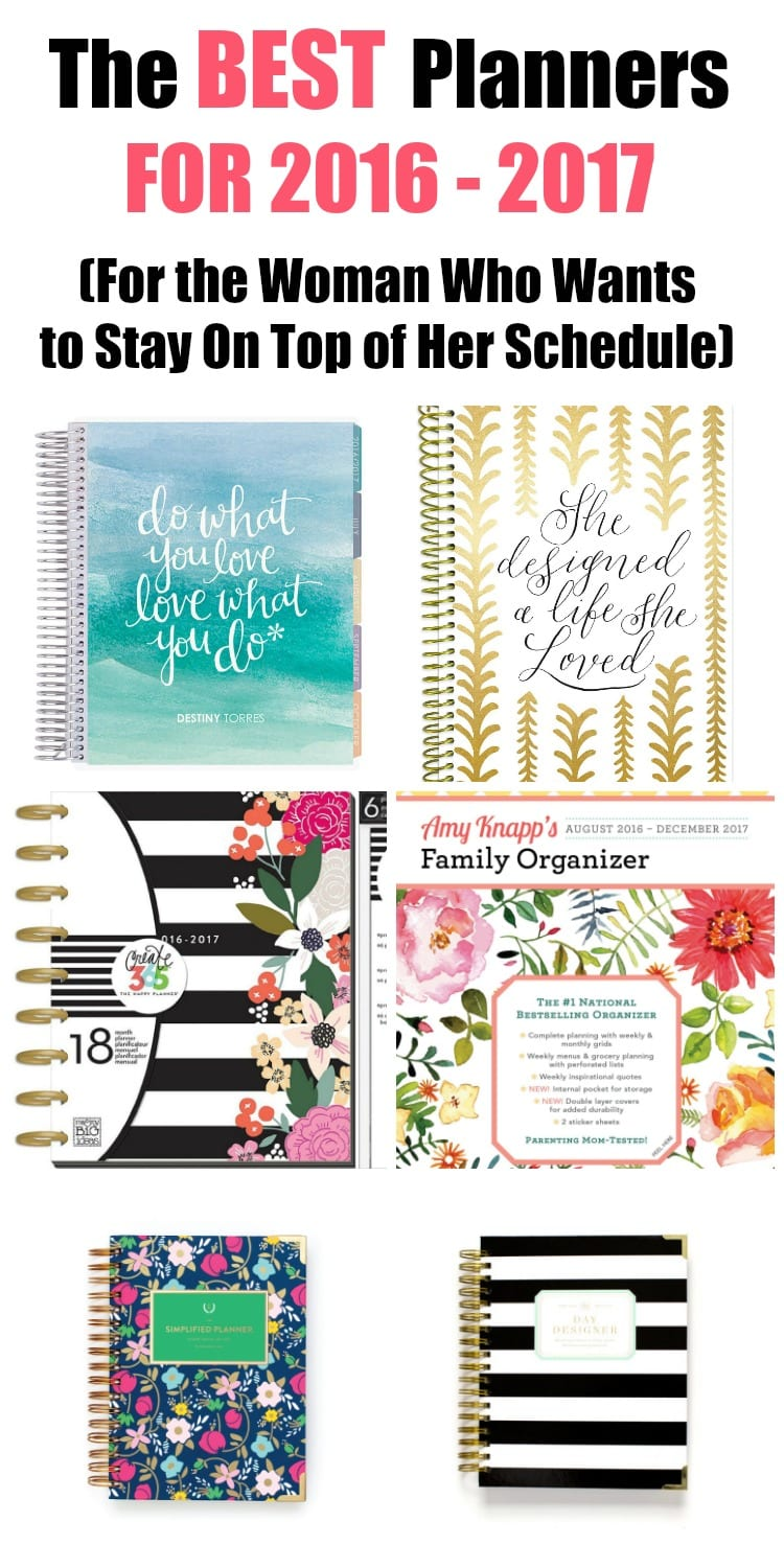 are you looking for the best planners to help get your life in order these