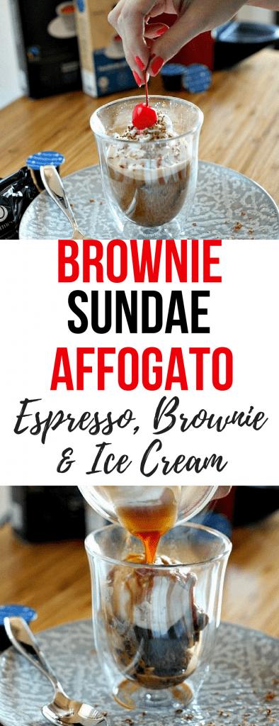 Brownie Sundae Affogato