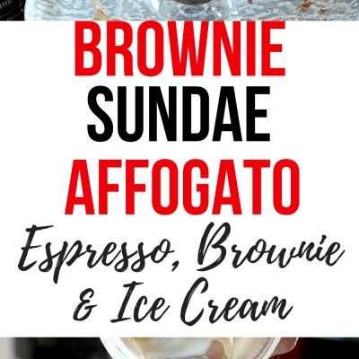 Brownie Sundae Affogato